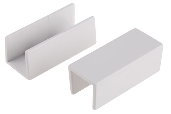 Product image for White PVC coupling for 16x16mm trunking
