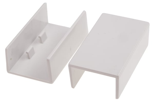 Product image for White PVC coupling for 25x16mm trunking