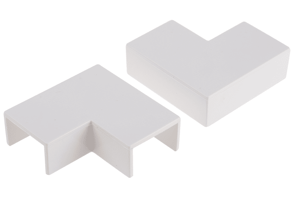 Product image for Wht PVC flat angle for 25x16mm trunking