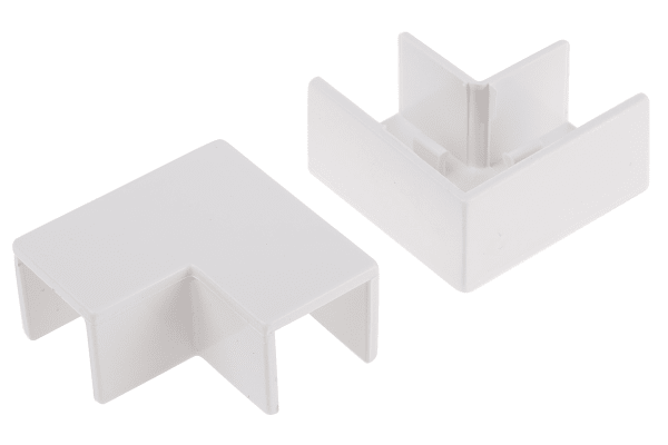 Product image for Wht PVC flat angle for 16x16mm trunking