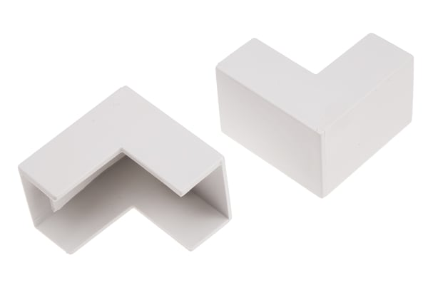 Product image for Wht PVC external angle-25x16mm trunking