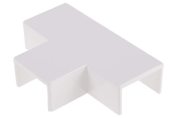 Product image for White PVC flat tee for 25x16mm trunking