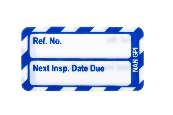 Product image for Brady Inspection Tag, White on Blue
