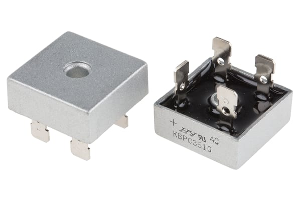 Product image for HY Electronic Corp KBPC3510, Bridge Rectifier, 35A 1000V, 4-Pin KBPC