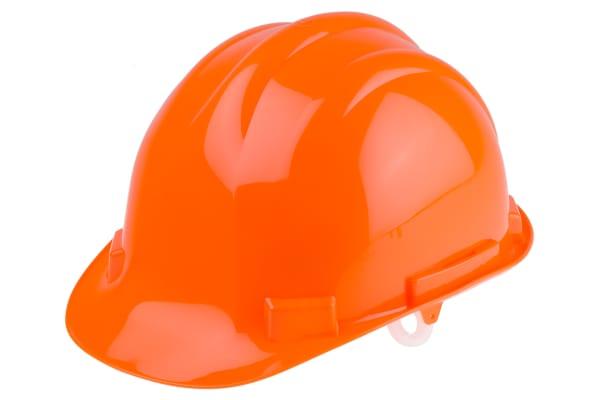 Product image for HDPE Safety Helmet, Orange