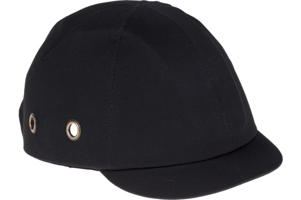 Product image for Short peak bump cap, 3cm, black