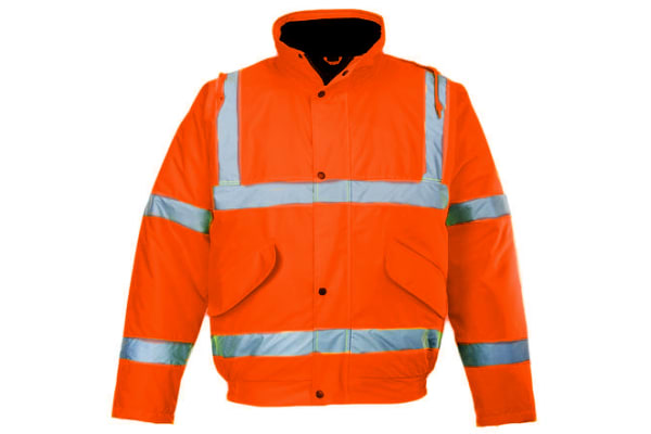 Product image for Hi-Vis Orange Motorway Jacket, XL