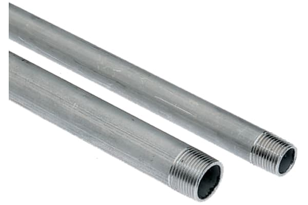 Product image for Welded s/steel pipe,3/4in BSPT M-M 2m L
