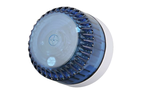 Product image for 10CD BEACON BLU LENS, WHT SHALLOW BASE
