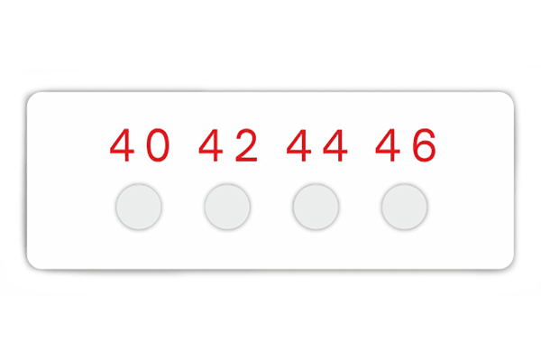 Product image for 4 level temp sensitive label,40-46degC