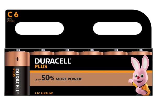 Product image for DURACELL PLUS POWER C ALKALINE