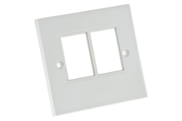 Product image for 2 WAY MOD-SNAP(TM) SOCKET WALLPLATE