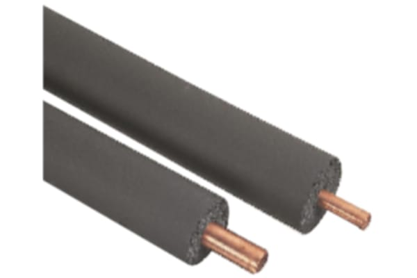 Product image for 15mm Pipe Insulation, 25mm x 2m, Rubber