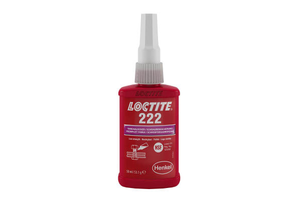 Product image for Loctite Loctite 222 Purple Threadlocking Adhesive, 50 ml, 24 h Cure Time
