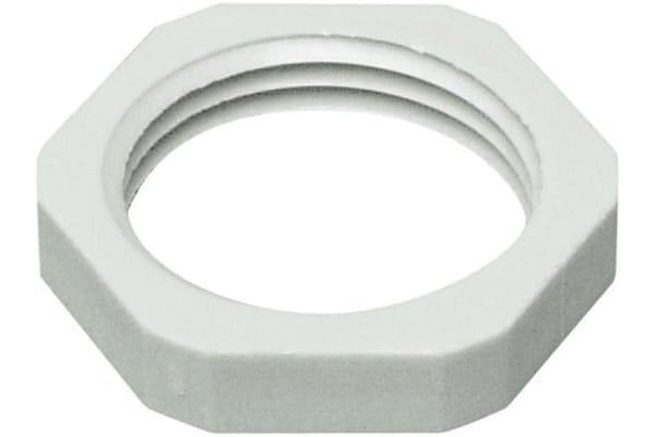 Product image for LOCKNUT  M16 PLASTIC GREY.