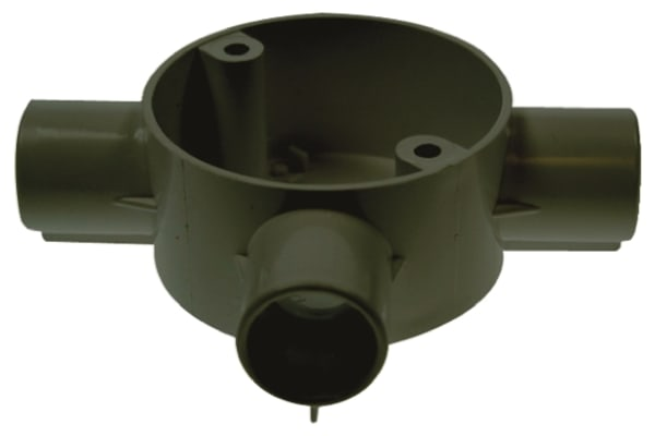 Product image for BLACK PVC TEE BOX FOR CONDUIT,20MM