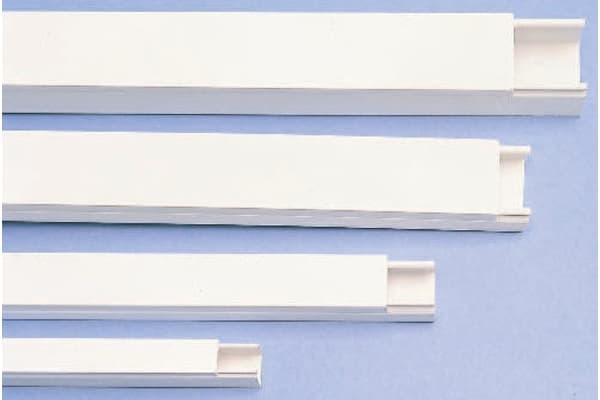 Product image for WHITE PVC STD MINI TRUNKING,38X38MM 3M L