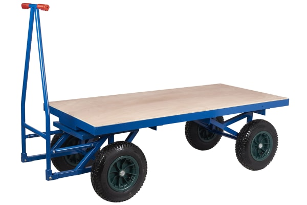 Product image for Pneumaticwheel turntable truck1500x760mm