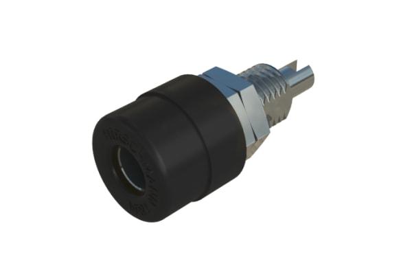 Product image for Black panel socket,4mm