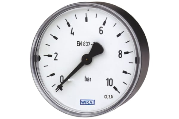 Product image for RS PRO Panel Mount Pressure Gauge Back Entry 4bar, Connection Size G 1/8