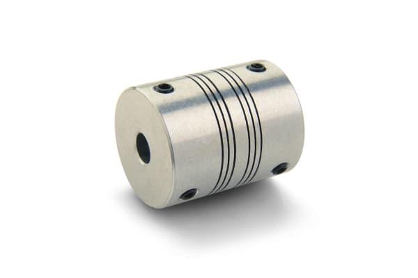 Product image for ALUMINIUM SET SCREW COUPLING,8X8MM BORE