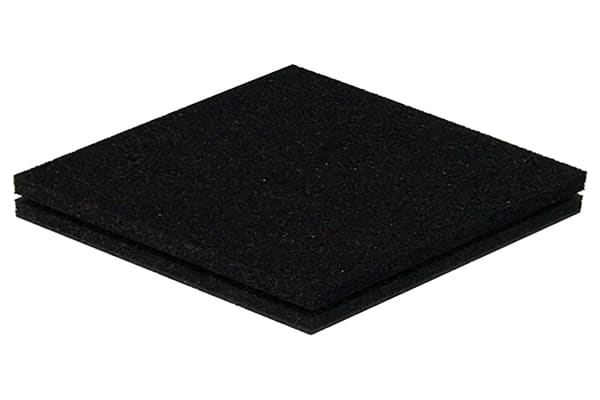 Product image for Black Polyether Foam,1000x1000x12mm