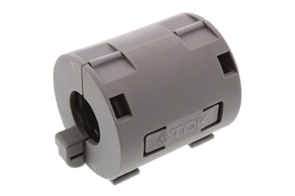 Product image for TDK Ferrite Sleeve, 34 Dia. x 39mm, For EMC Absorption, Apertures: 1, Diameter 13mm