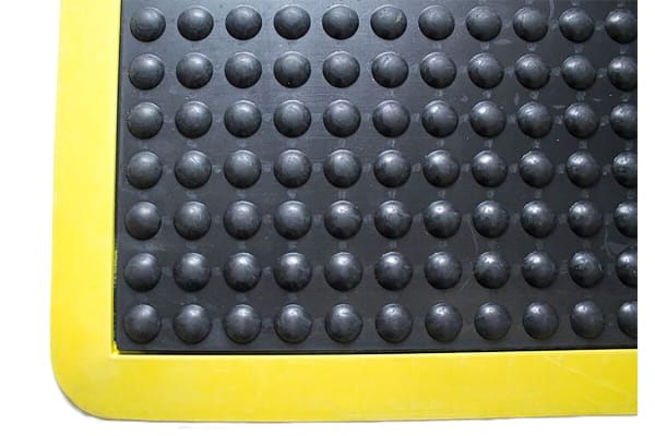 Product image for COBA Bubblemat Safety Individual Rubber Anti-Fatigue Mat x 600mm, 900mm x 14mm