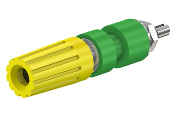 Product image for 4mm system binding post, green/yellow
