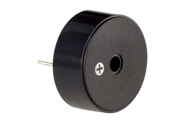 Product image for 95dB 12VDC Buzzer, Piezo Indicator