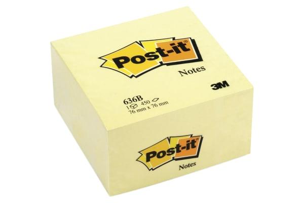 Product image for POST-IT? BLOC CUBE 7,6 X 7,6 CM CANARI