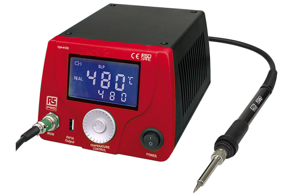 Product image for 60W LCD Soldering Station, UK+ Euro Plug