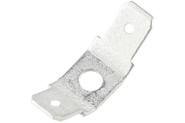Product image for Stud tab terminal, M3.5, 6.35mm,2x45 deg