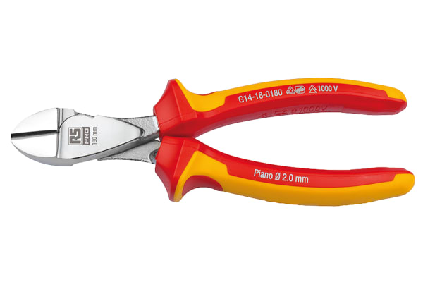 Product image for 180 mm Insulated Power Diagonal Cutter