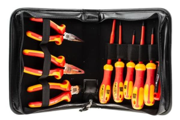 Product image for RS PRO VDE Insulated Screwdriver and Plier Set