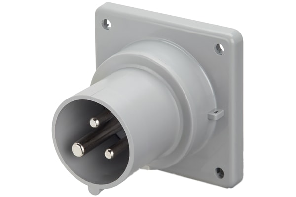 Product image for IP44 32A 240V 2P+E Panel Appliance Inlet