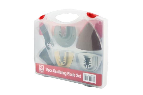 Product image for 15pcs Oscillating Blade Set (wood/metal)