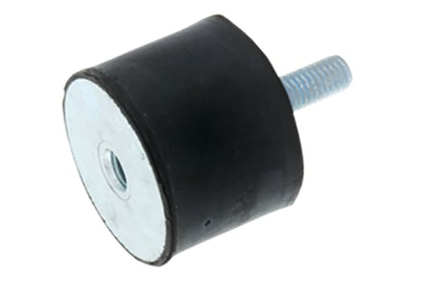 Product image for Stud Mount (M/F) 16x10mm M5x12 50 ShA
