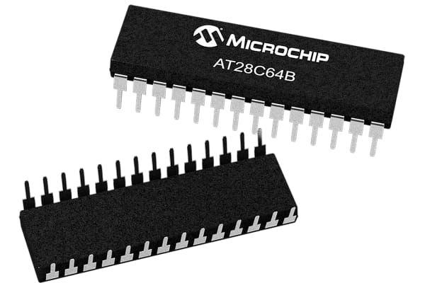 Product image for 64K (8Kx8) EEPROM 150ns,AT28C64B-15PU