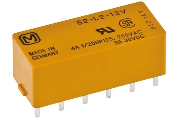 Product image for DPNO/DPNC latching relay,4A 12Vdc coil