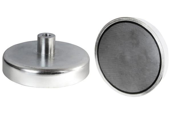 Product image for 8 X 4.5MM SAMARIUM SHALLOW POT MAGNET