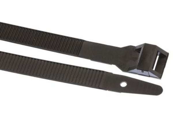 Product image for HellermannTyton Black Cable Tie Nylon Outside Serrated, 752mm x 9 mm