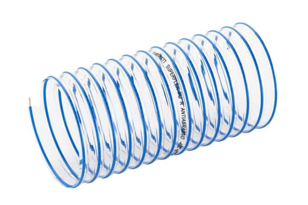 Product image for 10MTRS 152MM SUPERFLEX PUR BLUE SPIRAL