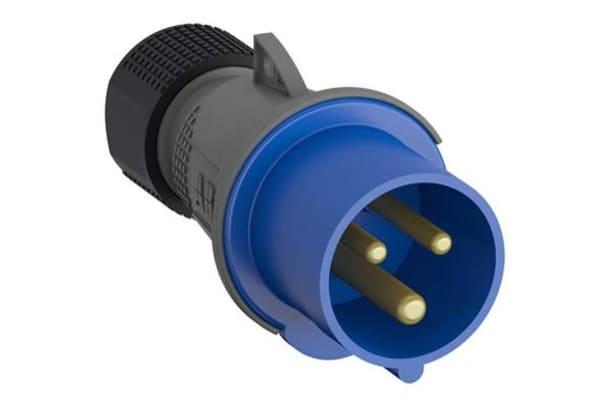 Product image for IP44 2P+E STRAIGHT PLUG 32A 230V