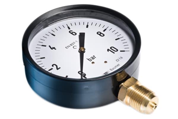 Product image for MAT1 PRESSURE GAUGE STEEL G1/8 0-6BAR