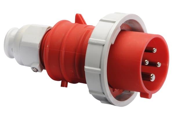 Product image for 16A 400V 4P PLUG IP67 QC MG