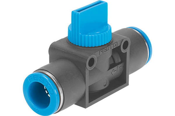 Product image for 3/2 Shut-off Valve 8mm Push-in