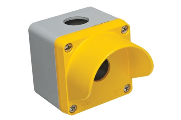 Product image for 1 Hole Yellow Control station Shrouded