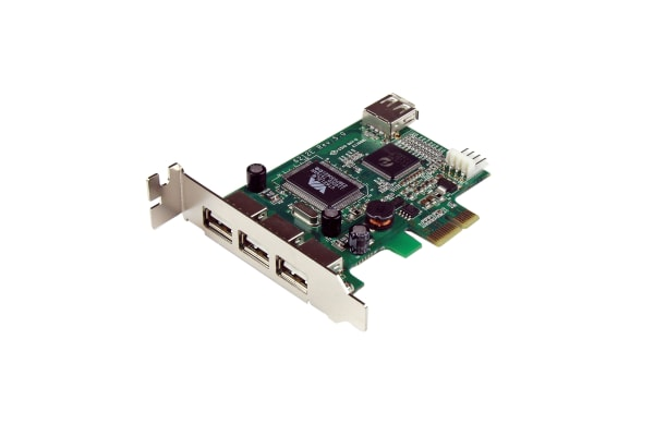 Product image for 4 Port PCIe USB 2.0 Card
