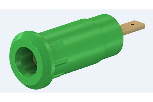 Product image for 2mm press-in socket, 2.8mm tab, green